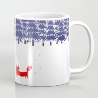 house Mugs featuring Alone in the forest by Robert Farkas