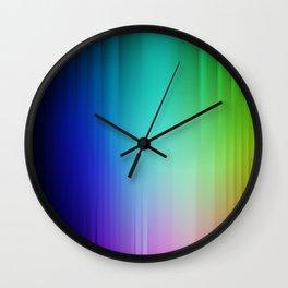Showering Streaks of Rainbows Wall Clock