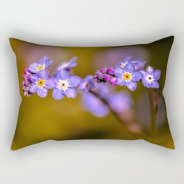 Forget Me Nots Rectangular Pillow