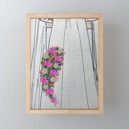 Here Comes the Bride Framed Mini Art Print
