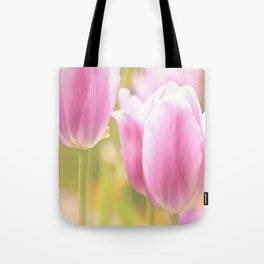 Spring is here with wonderful  colors - close-up of tulips flowers Tote Bag