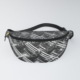 Rebar On Rebar - Industrial Abstract Fanny Pack