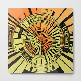Futuristic technology abstract Metal Print
