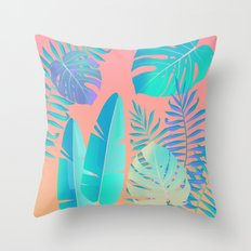 Tropics ( monstera and banana leaf pattern ) Throw Pillow