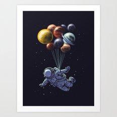Space travel Art Print