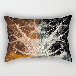 Bleached Bones of the Symmetrical Tree Rectangular Pillow