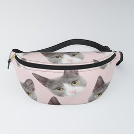 girly cute pink pattern snowshoe cat Fanny Pack
