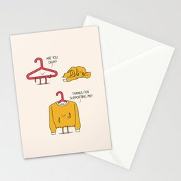 Mutual support Stationery Cards