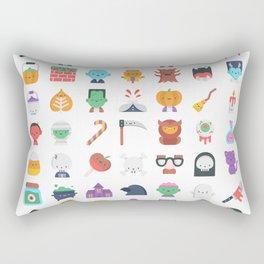 CUTE HALLOWEEN COSTUME FALL PATTERN Rectangular Pillow