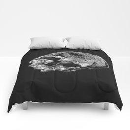 Human Skull Vintage Illustration  Comforters