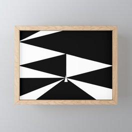 Triangles in Black and White Framed Mini Art Print