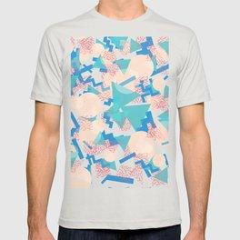 90's Pastel Geometric Pattern T-shirt