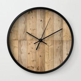 Wood Planks Light Wall Clock