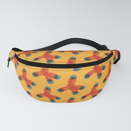 Orange Methane Molecule Fanny Pack