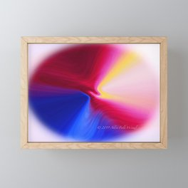 """Any Abstract Morning"" Digital Print Framed Mini Art Print"