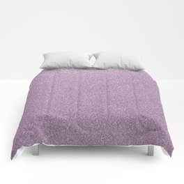 Modern abstract lavender lilac girly glitter Comforters