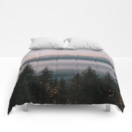 Faraway Mountains - Landscape and Nature Photography Comforters