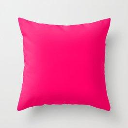 Hot Pink Color Throw Pillow