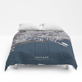 Chicago II - city map Comforters