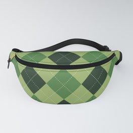 Argyle greens Fanny Pack