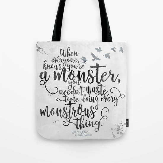 Six of Crows - Monster - White Tote Bag