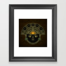 God Sun mask (INTI) Framed Art Print