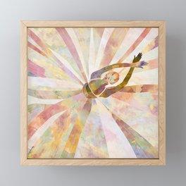 Sleeping Ballerina Floral - Gold Summer Palette Framed Mini Art Print