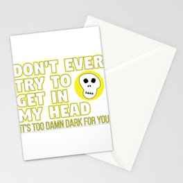 Your Friendly Psychic Tshirt Design dont ever try to get in my head Stationery Cards