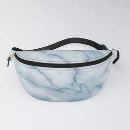 Light blue marble texture Fanny Pack