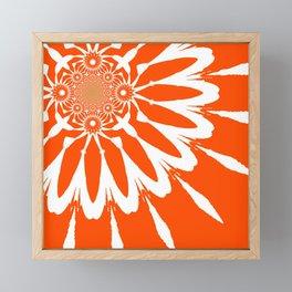 The Modern Flower Orange Framed Mini Art Print
