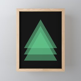 Abstract #17 Green and Black Framed Mini Art Print