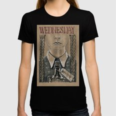 Wednesday Addams (DRAWLLOWEEN 2/31) X-LARGE Womens Fitted Tee Black