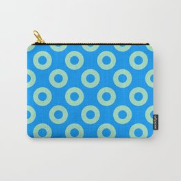 Mint circles on blue background Carry-All Pouch