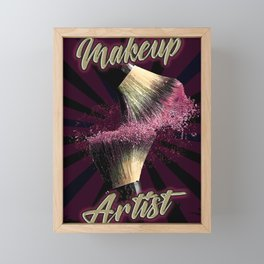 Makeup Artist, Make up Fashion Framed Mini Art Print