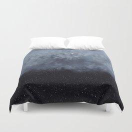 Blue veiled moon II Duvet Cover