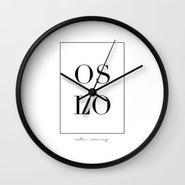Oslo Letters Wall Clock