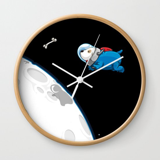 Spacedoggy Wall Clock