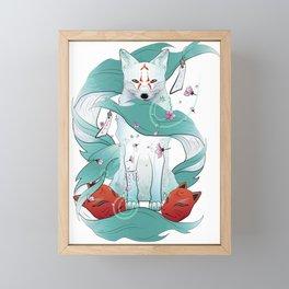 Frozen Kitsune Framed Mini Art Print