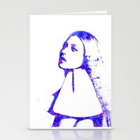 kate moss Stationery Cards featuring Kate Moss by fashionistheonlycure
