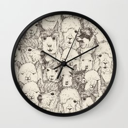just alpacas natural Wall Clock