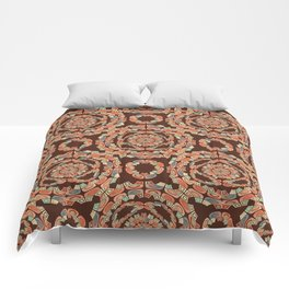 Brown decorative pattern Comforters