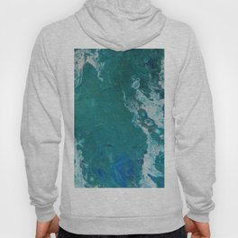 A View From Space, abstract acrylic fluid painting Hoody