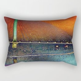 Burning Bridges Rectangular Pillow