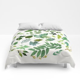 Circle of Leaves Comforters