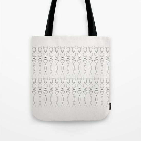 One line nude Tote Bag