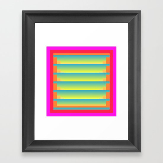 Gradient Fades v.5 Framed Art Print