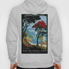 Côte D'Emeraude, French Travel Poster Hoody
