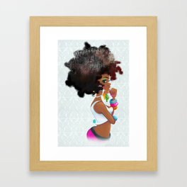 Baby Girl Framed Art Print