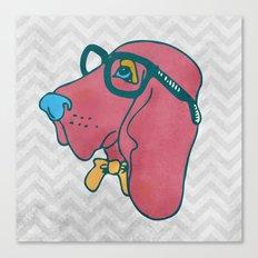 Rufus the Intelligent Geek Hound Canvas Print