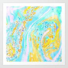 Marble Aqua Art Print